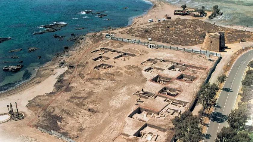 BARIA Vista del yacimiento arqueológico de la Baria romana, excavado en el verano de 2004 junto al solar perdido en el Supremo
