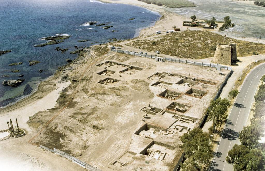 Panorámica de Baria en los años ochenta, antes del desarrollo urbanístico actual