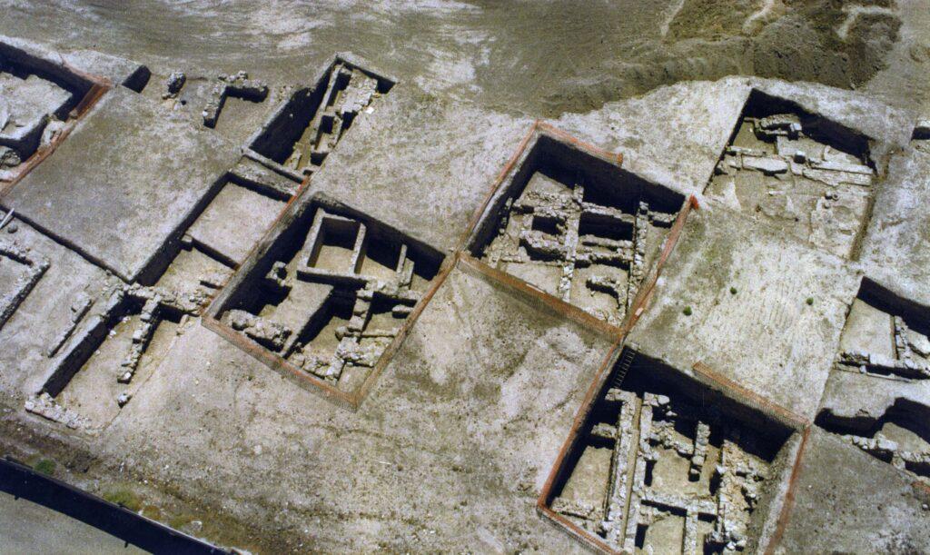 Panorámica de la excavaciones de Baria